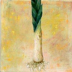 peinture poireau légume expression française