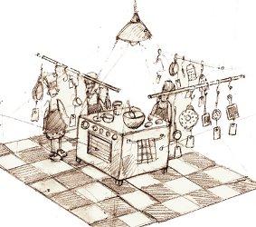 cuisine croquis dispositif gouramandises
