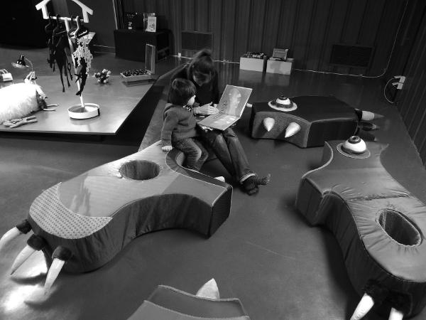 Scénotopic Exposition itinérante Trouillomètre-zéro Module-Croq'mômes-le-libriovore